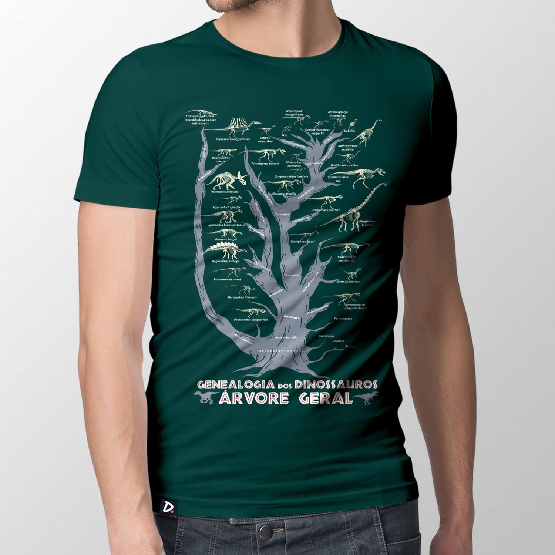 Camiseta Genealogia dos Dinossauros Geral - Masculino