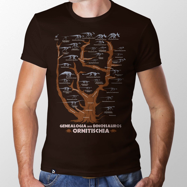 Camiseta Genealogia dos Dinossauros Ornitischia
