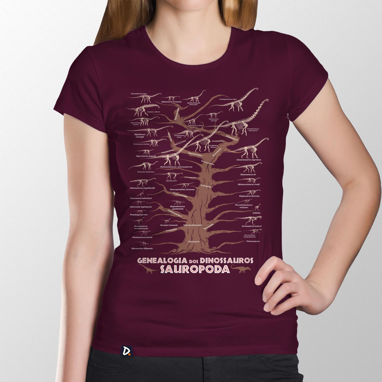Camiseta Genealogia dos Dinossauros Sauropoda