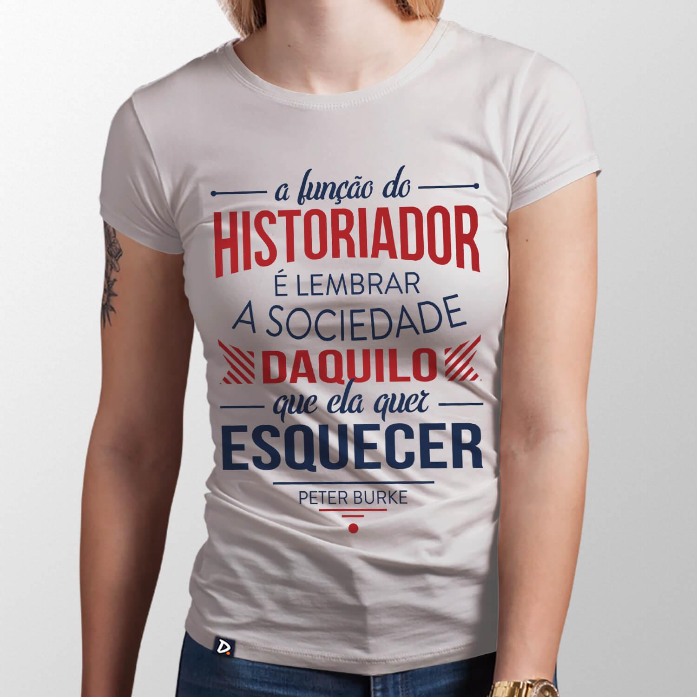 Camiseta Historiador - Feminino