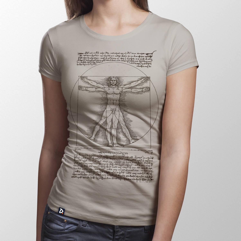 f233b272a Camiseta Homem Vitruviano - Feminino - Doppel Store