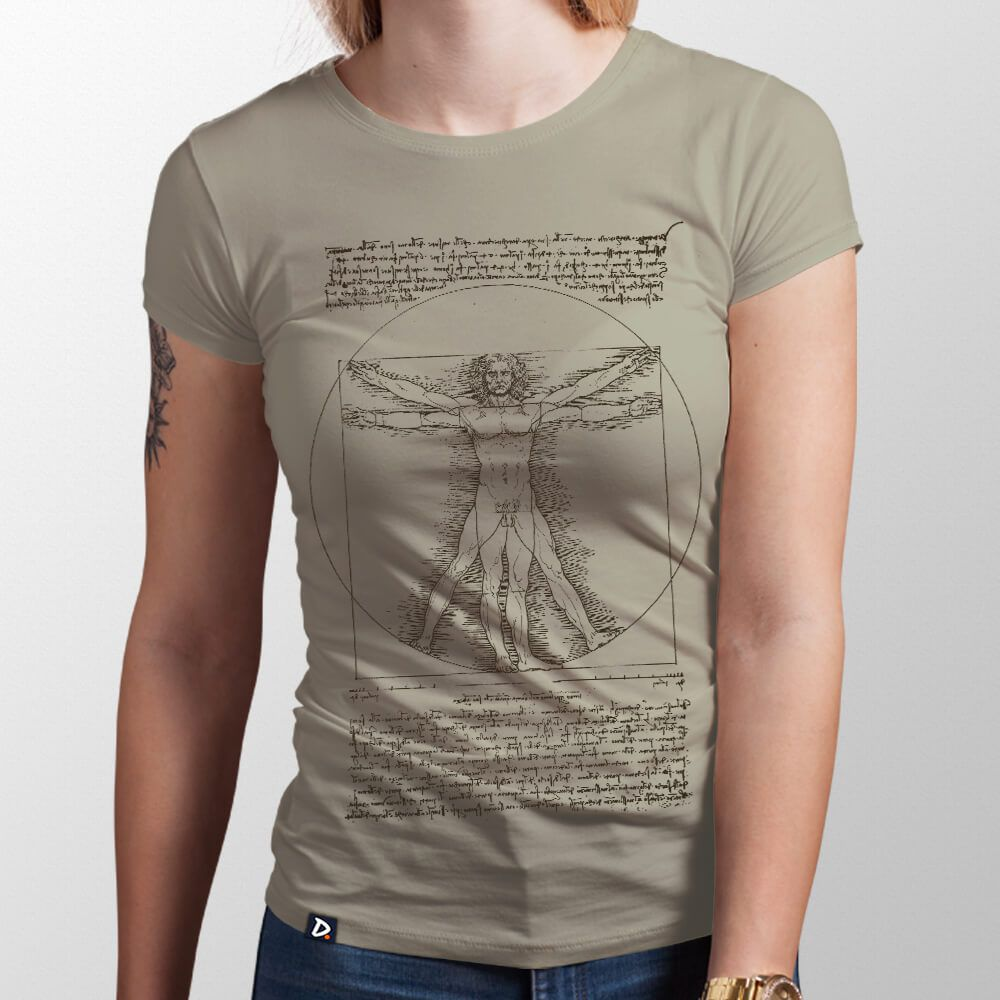 Camiseta Homem Vitruviano - Feminino