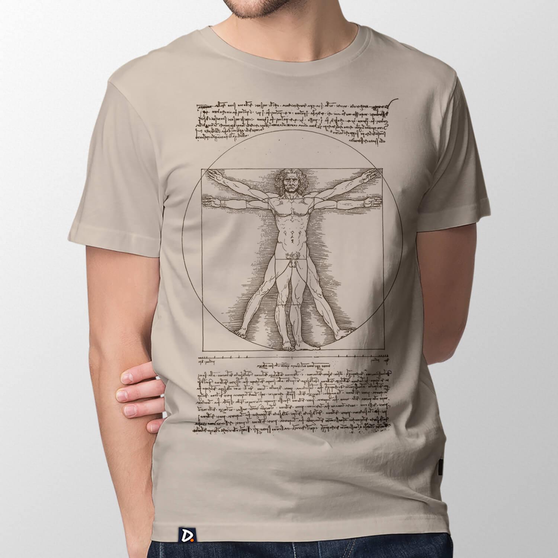 b0a20bcc4 Camiseta Homem Vitruviano - Masculino - Doppel Store