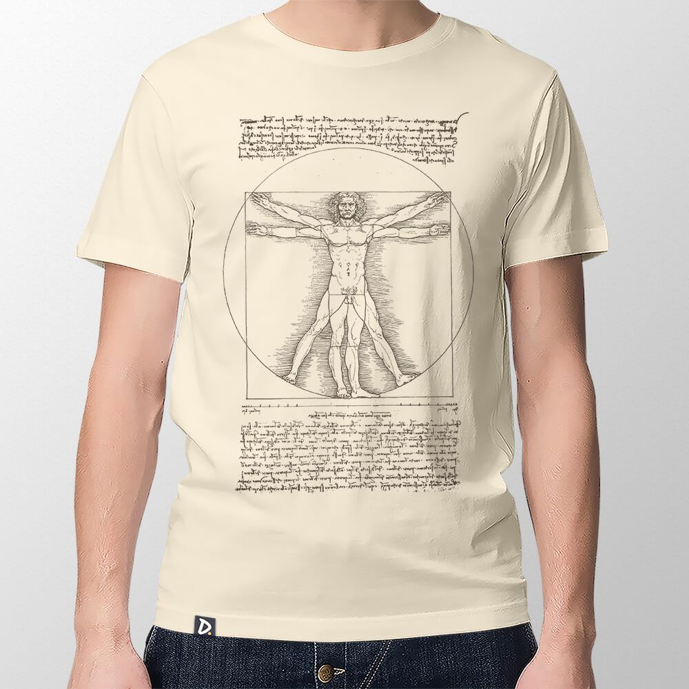 Camiseta Homem Vitruviano - Masculino