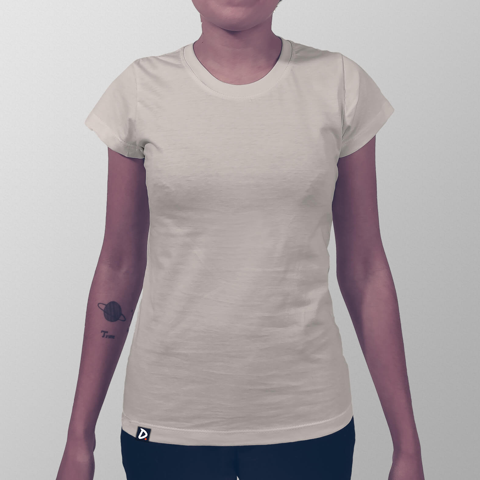 Camiseta Lisa Areia