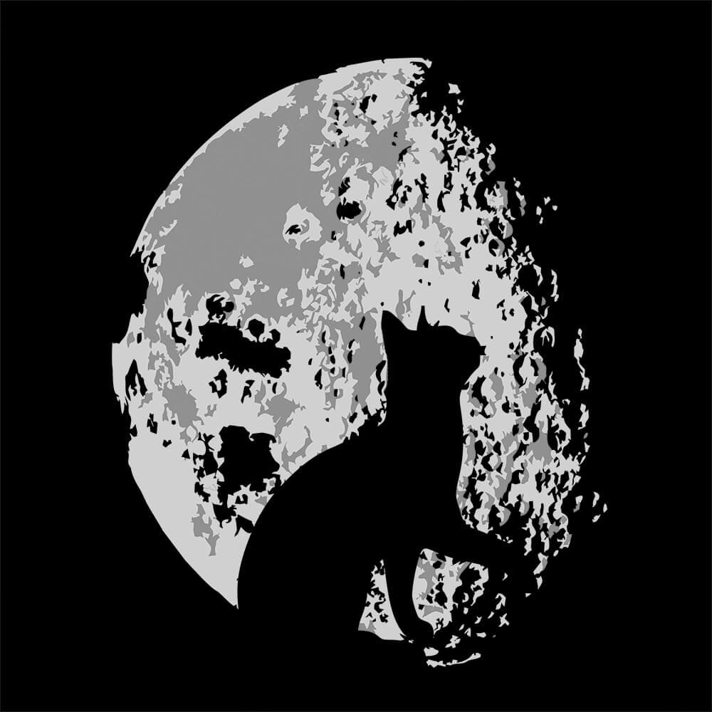 Camiseta Lua Felina - Masculino