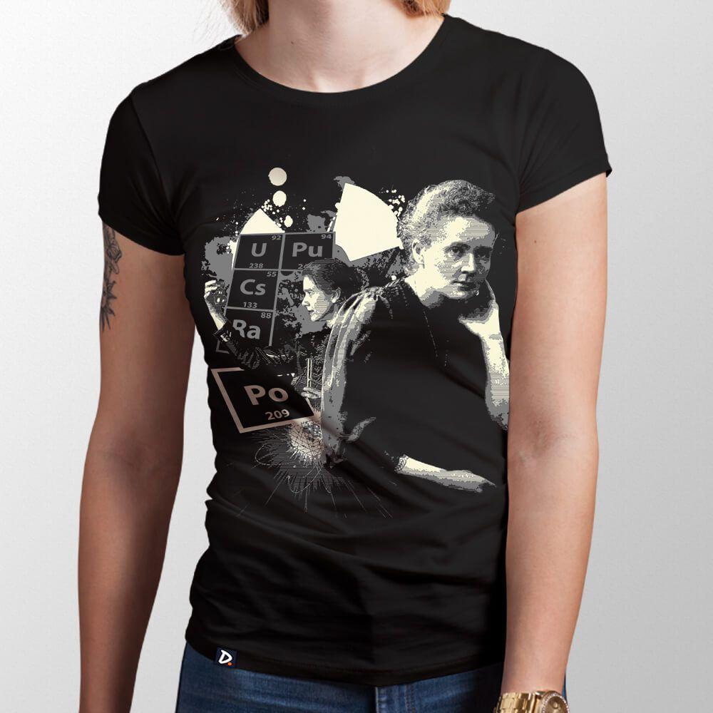 Camiseta Marie Curie - Feminino