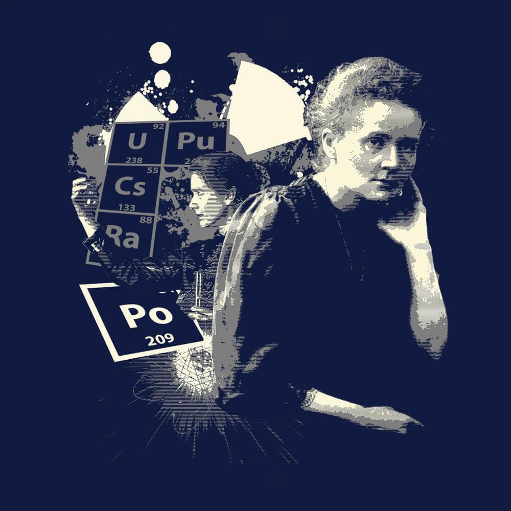 Camiseta Marie Curie Antigo - Masculino