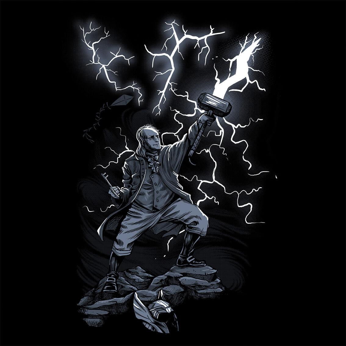 Camiseta Masculina Benjamin Thor Franklin