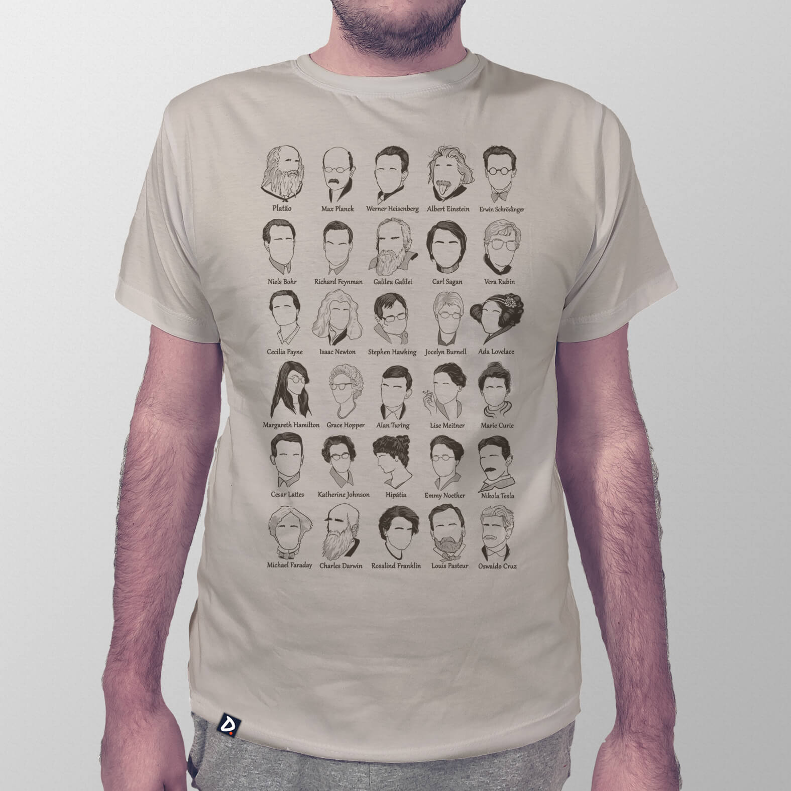 Camiseta Masculina Cientistas de Exatas