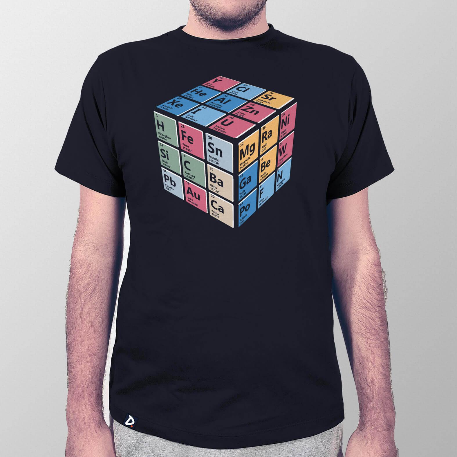 Camiseta Masculina Cubo Periódico