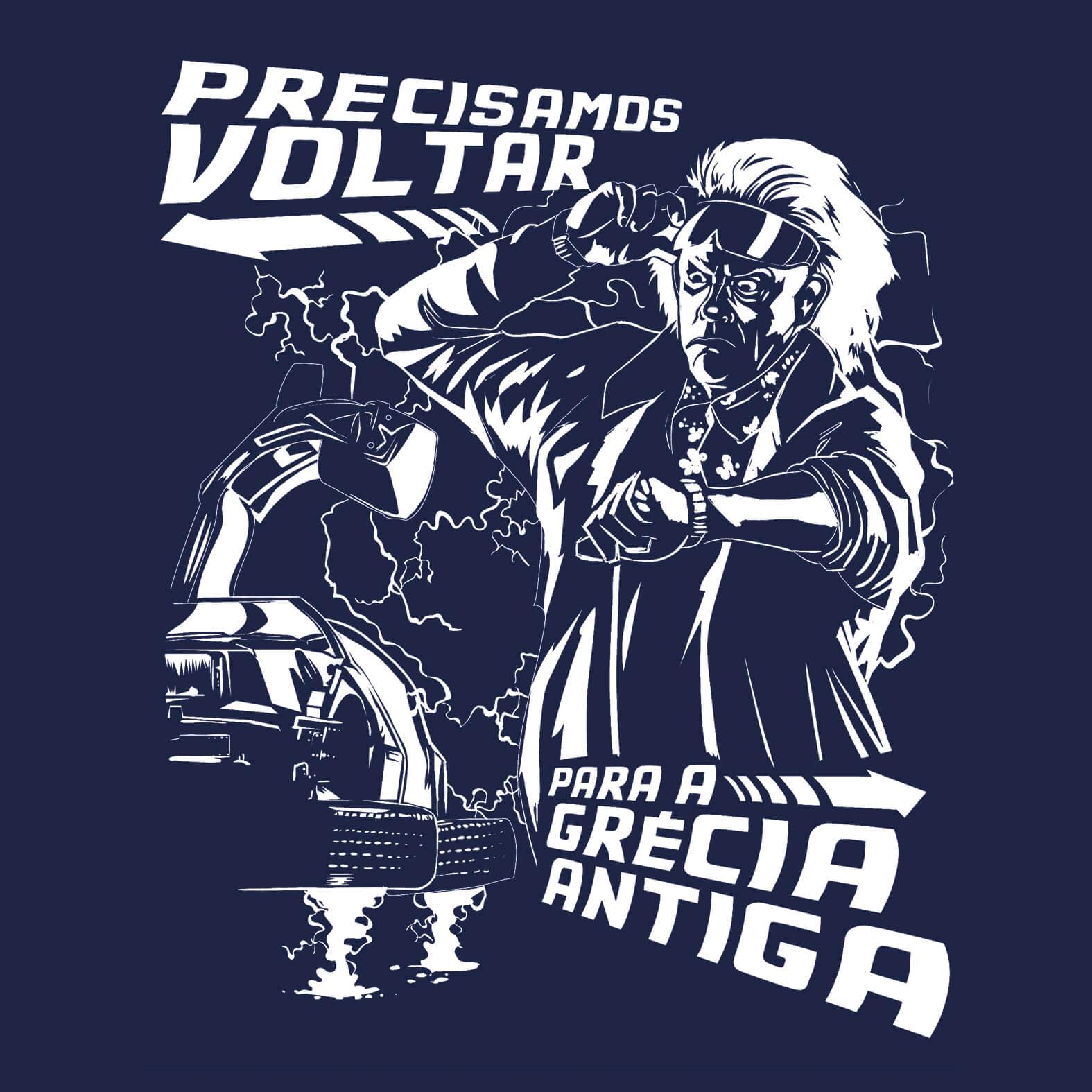 Camiseta Masculina De Volta para a Grécia Antiga