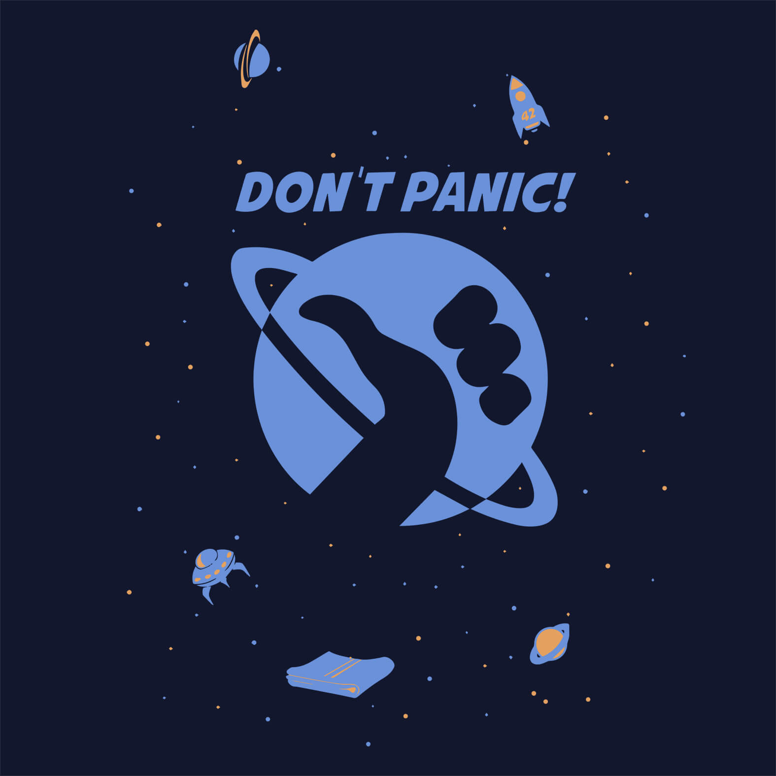 Camiseta Masculina Don't Panic