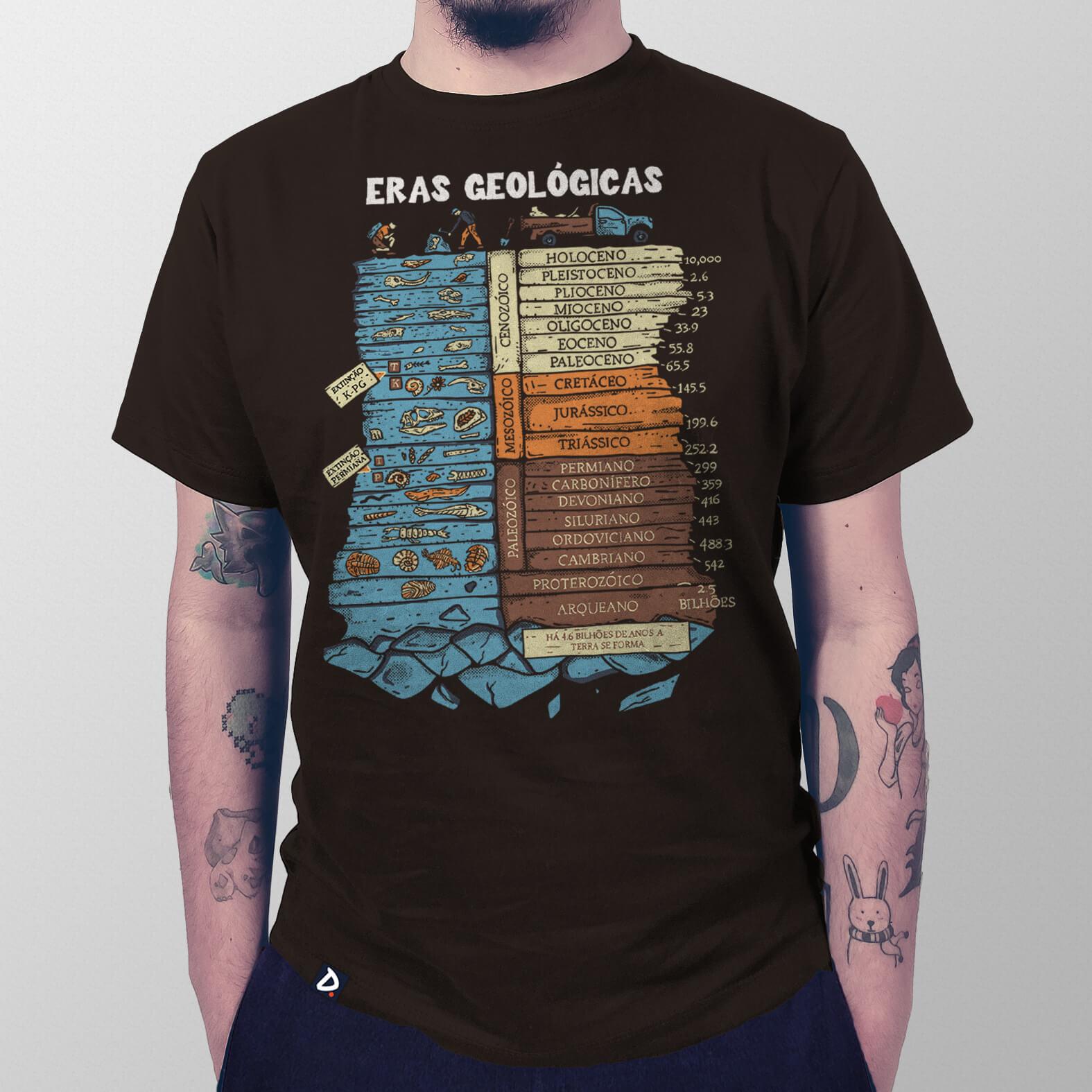 Camiseta Masculina Eras Geológicas