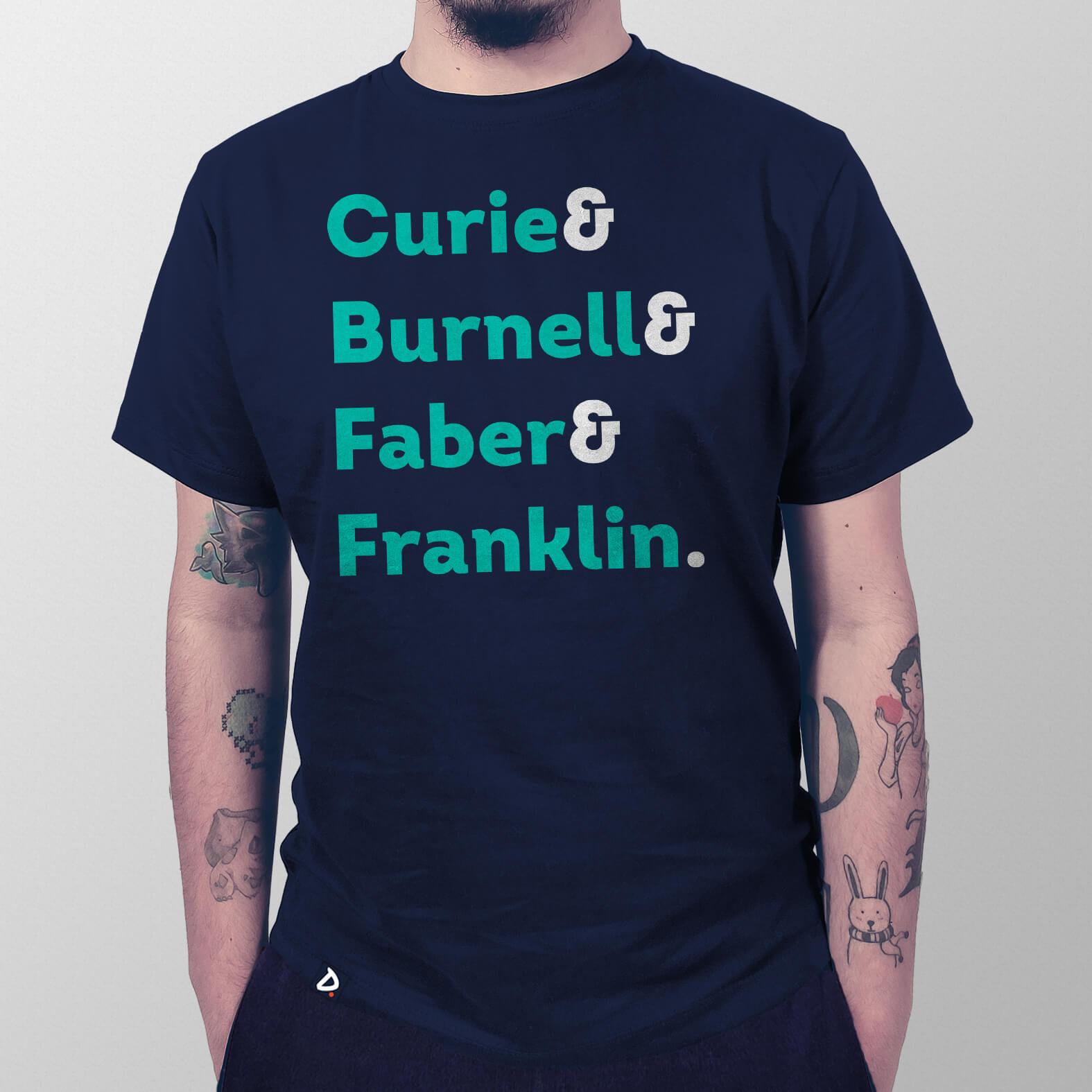 Camiseta Masculina Mulheres da Ciência