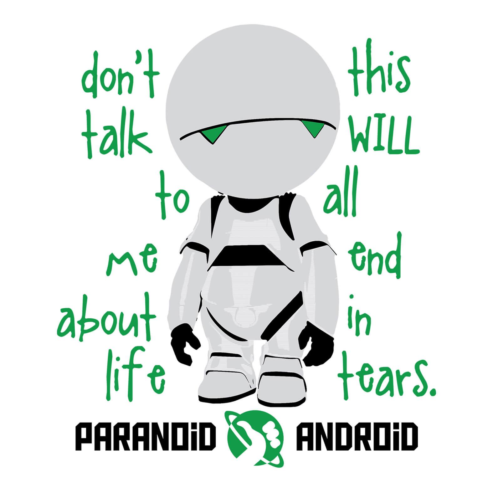 Camiseta Masculina Paranoid Android