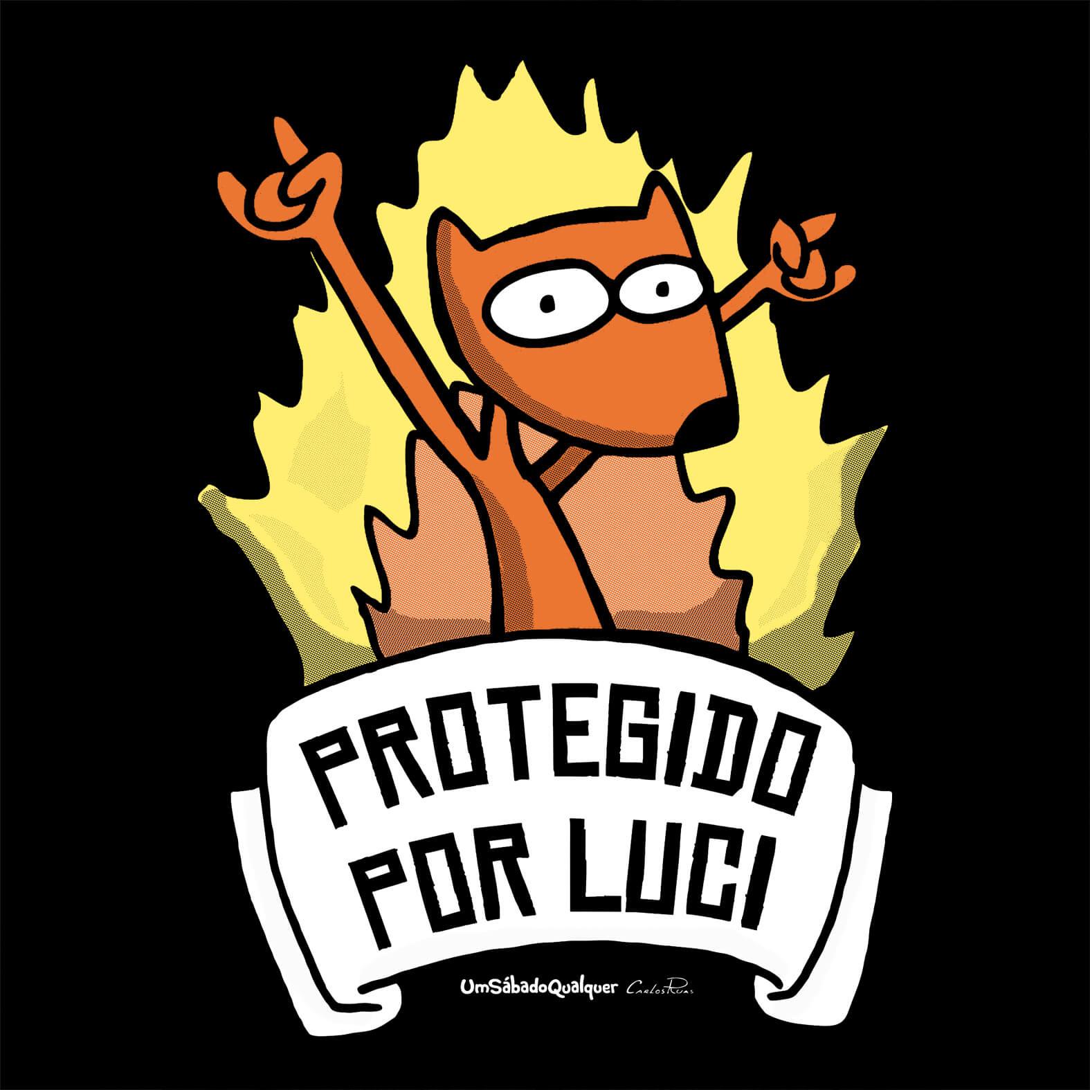 Camiseta Masculina Protegido por Luci