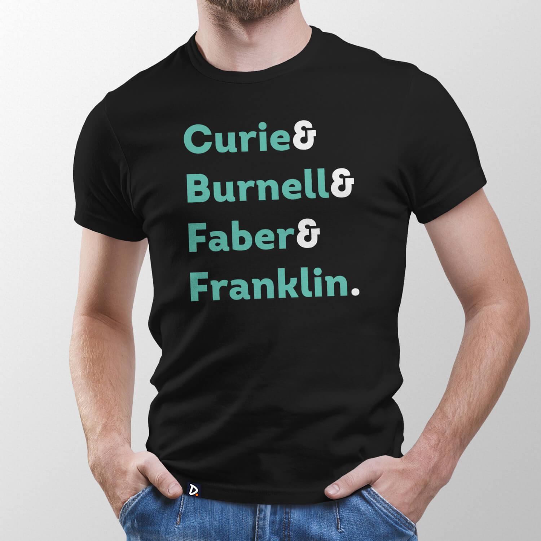 Camiseta Mulheres da Ciência - Masculino