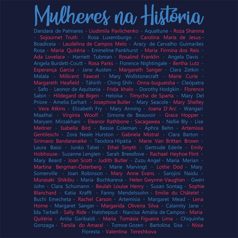 Camiseta Mulheres Que Fazem História - Feminino