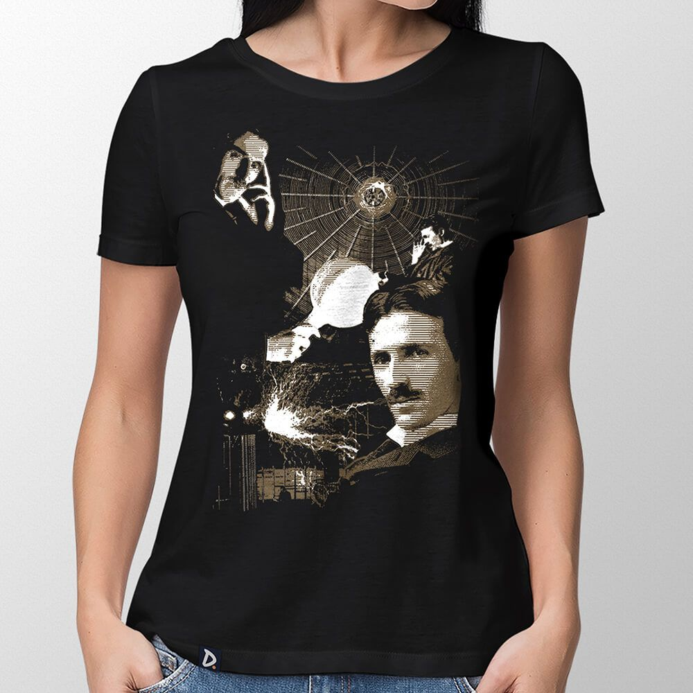 Camiseta Nikola Tesla - Feminino