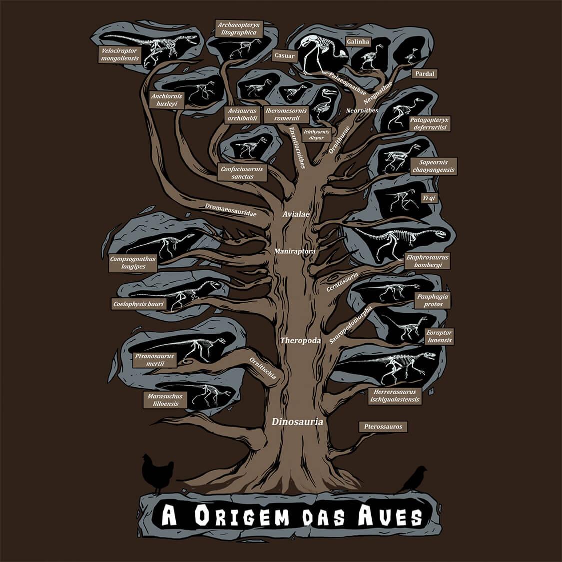 Camiseta Origem das Aves - Masculino