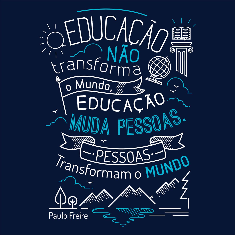 Camiseta Paulo Freire - Feminino
