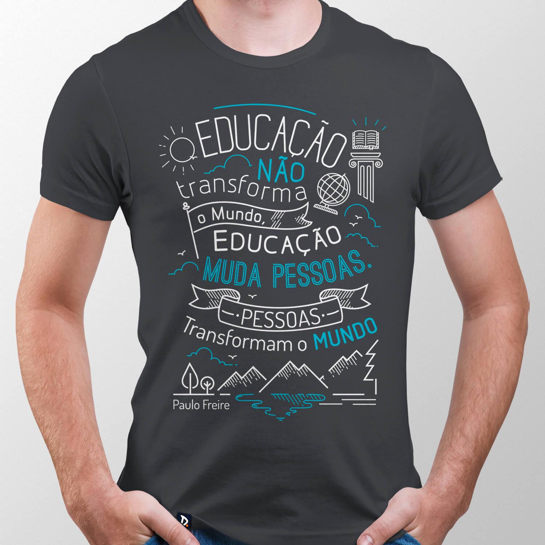 Camiseta Paulo Freire - Masculino