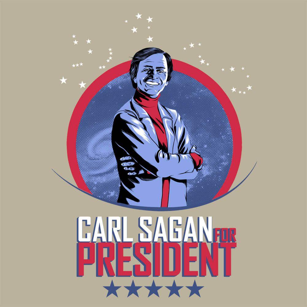 Camiseta Sagan for President - Feminino
