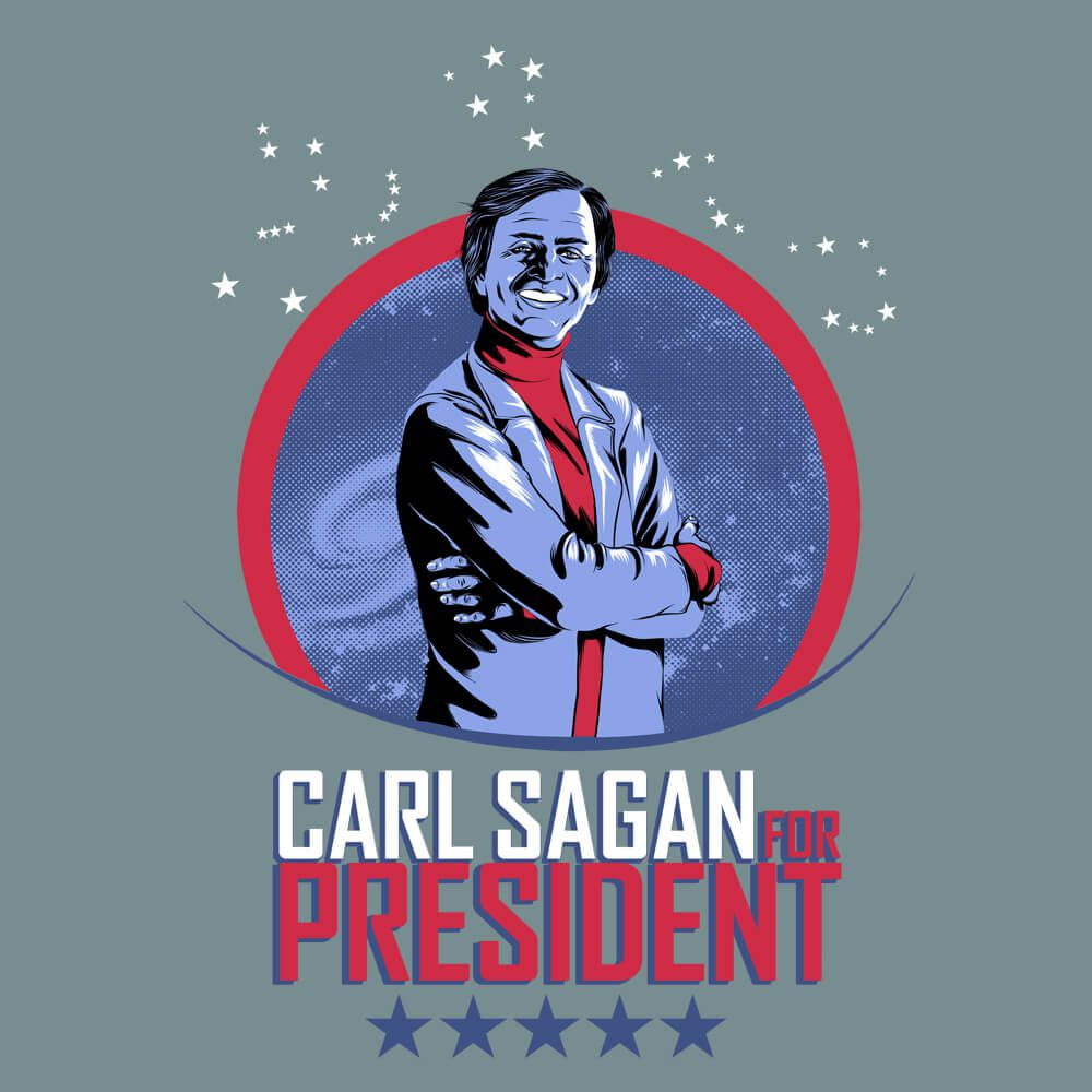 Camiseta Sagan for President - Feminino