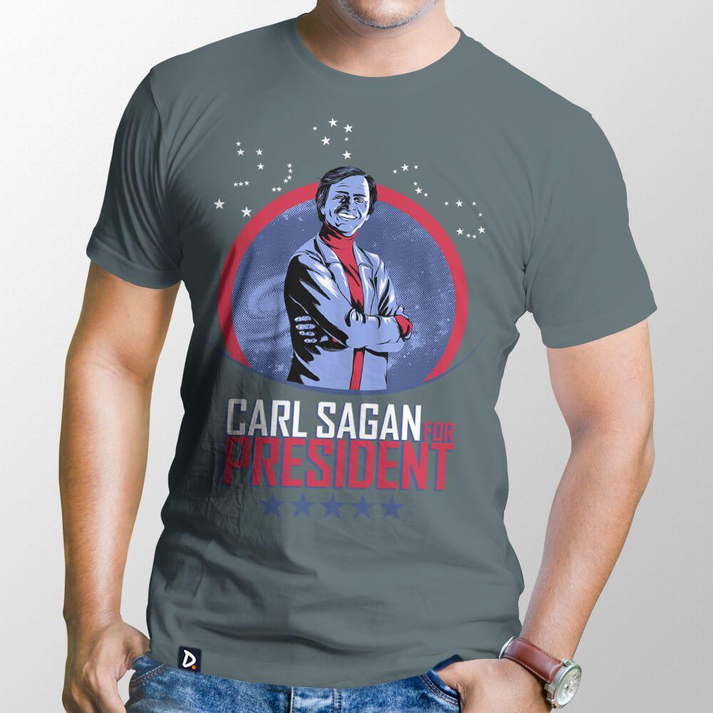 Camiseta Sagan for President - Masculino