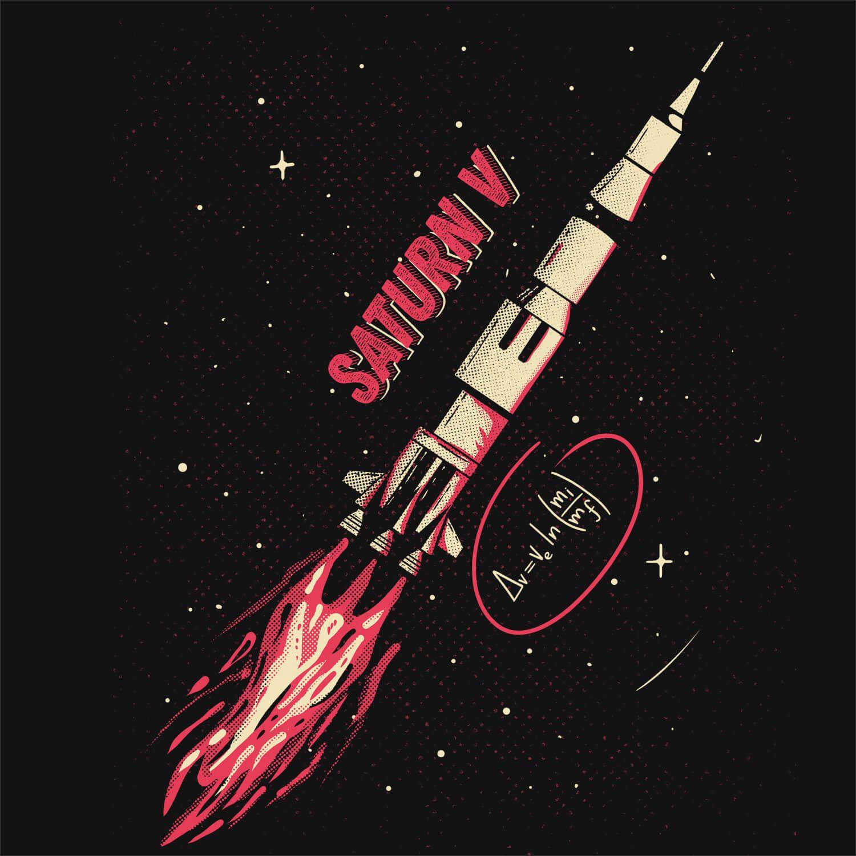 Camiseta Saturn V - Masculino