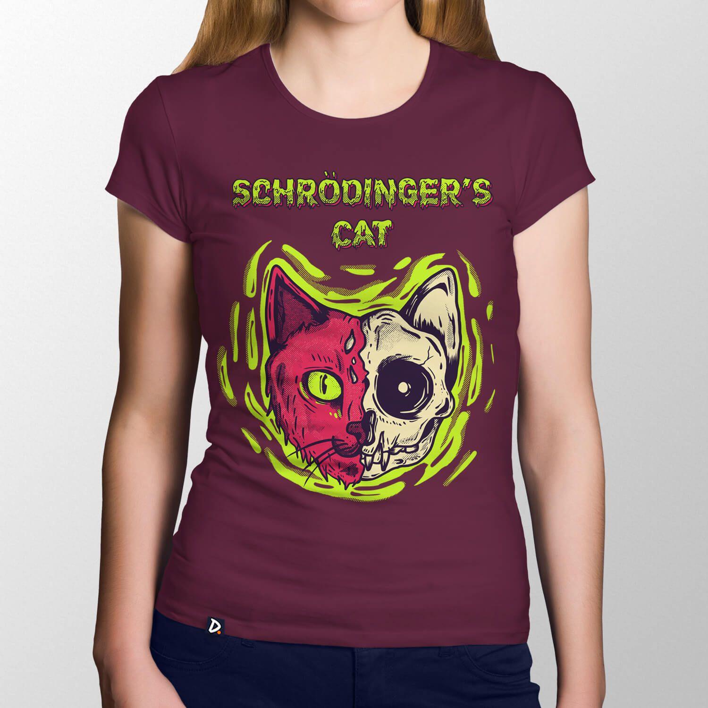 Camiseta Schrödinger's Cat - Feminino
