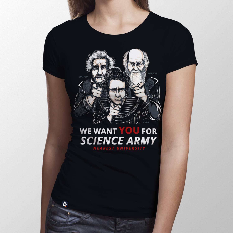 Camiseta Science Army