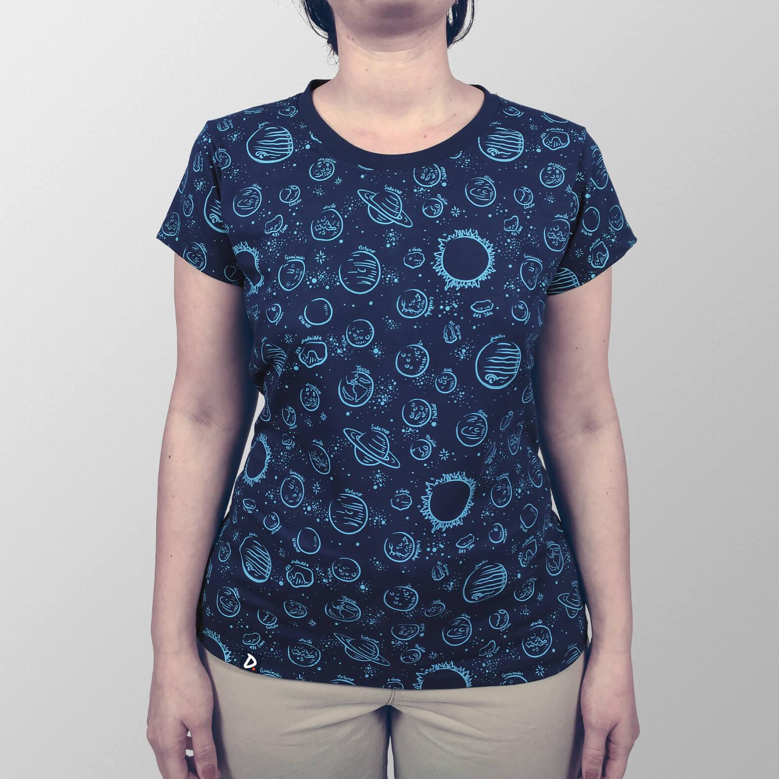 Camiseta Sistema Solar Minimalista