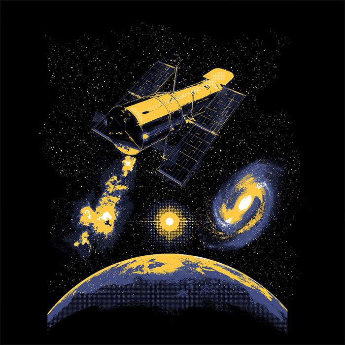 Camiseta Telescópio Hubble - Feminino