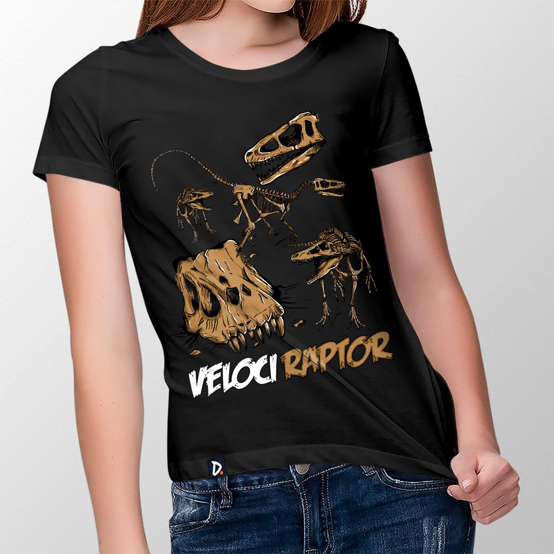 Camiseta Velociraptor - Feminino