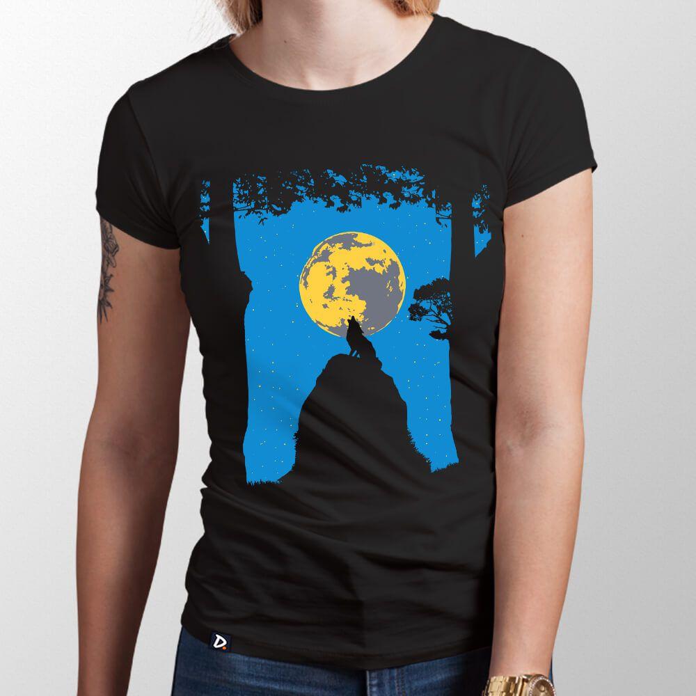 Camiseta Wolf Moon - Feminino