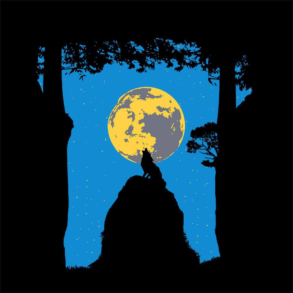 Camiseta Wolf Moon - Masculino