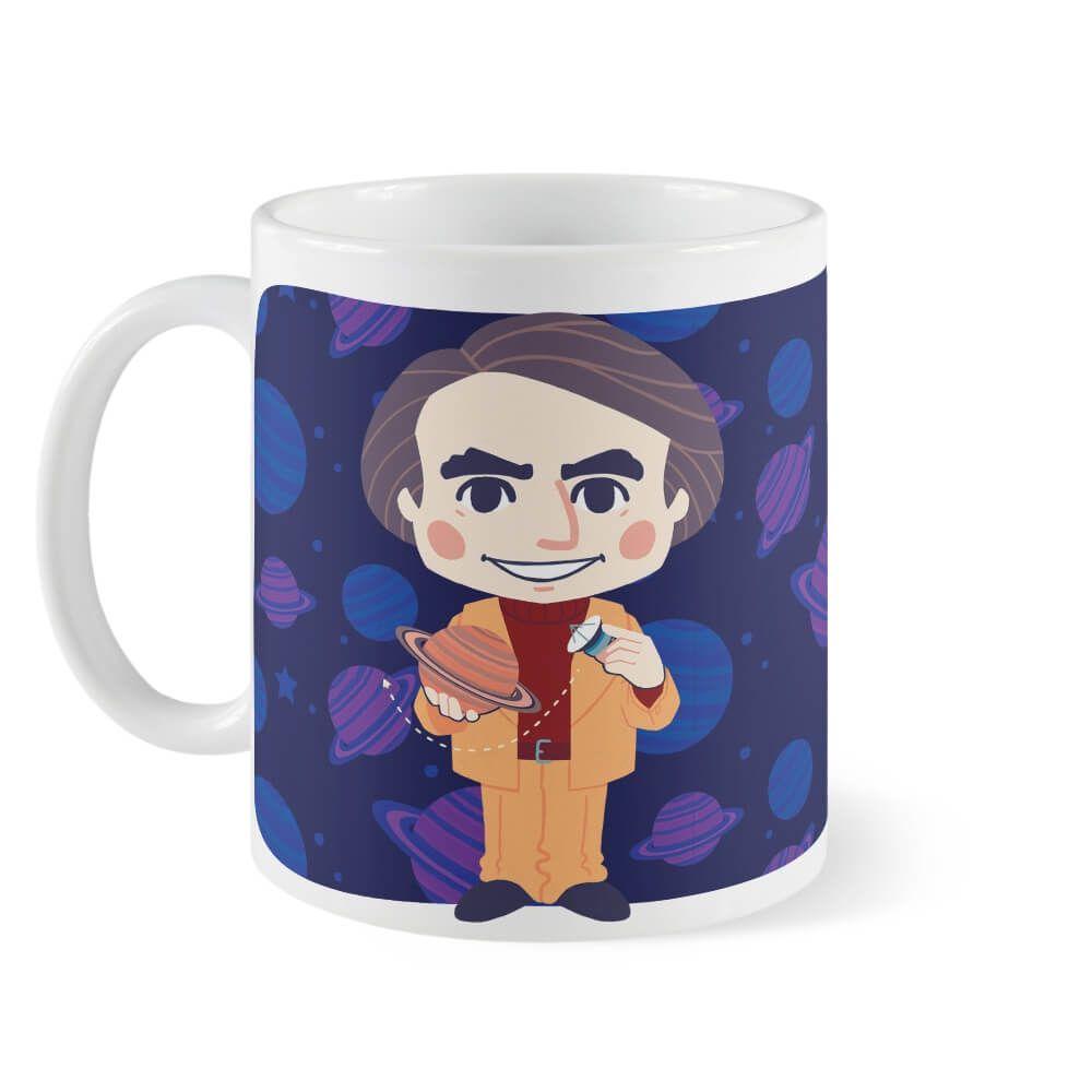 Caneca Carl Sagan Chibi