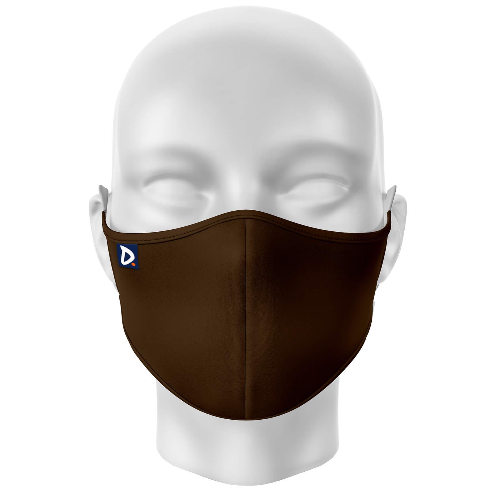 Máscara Lisa Marrom