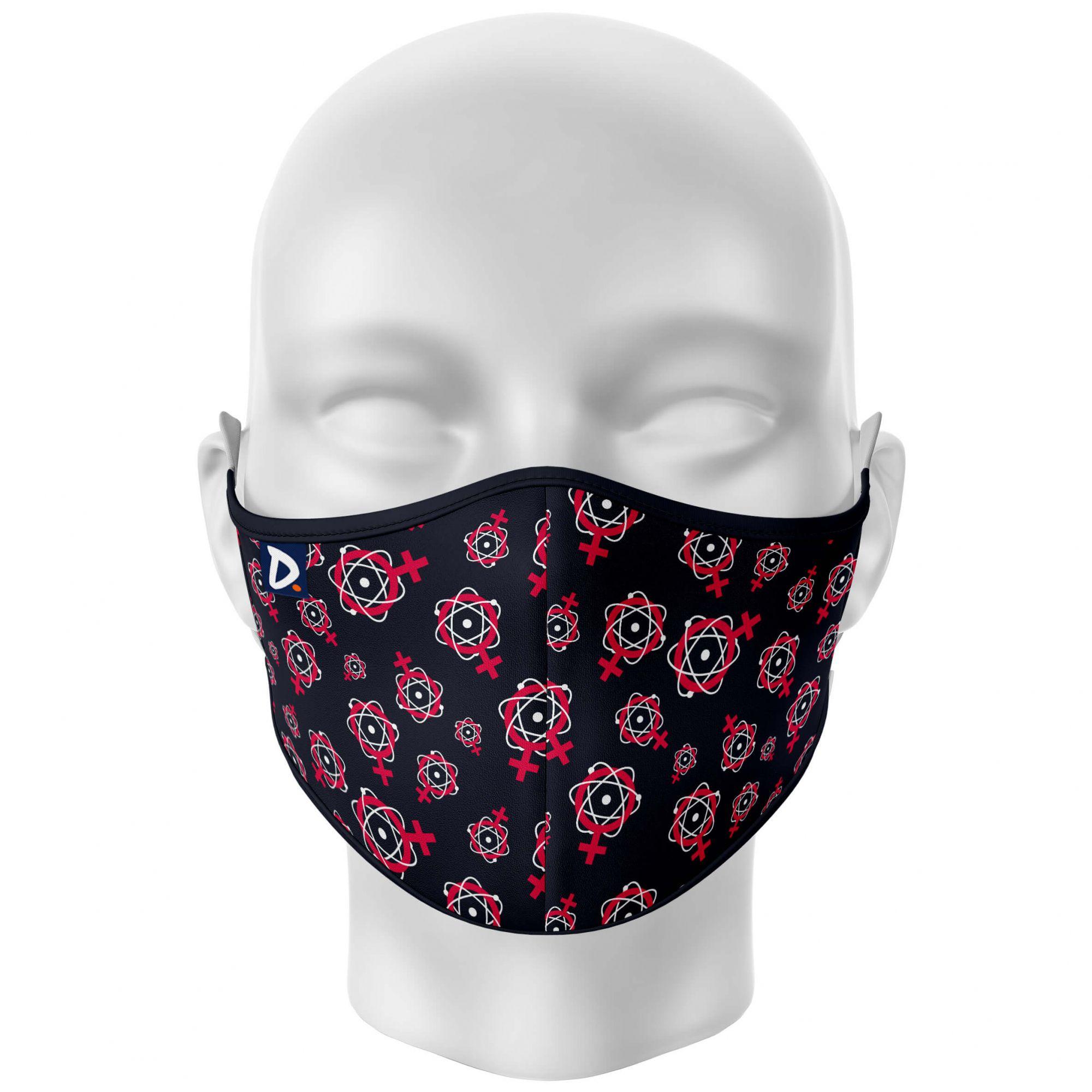 Máscara Mulheres na Ciência Preto