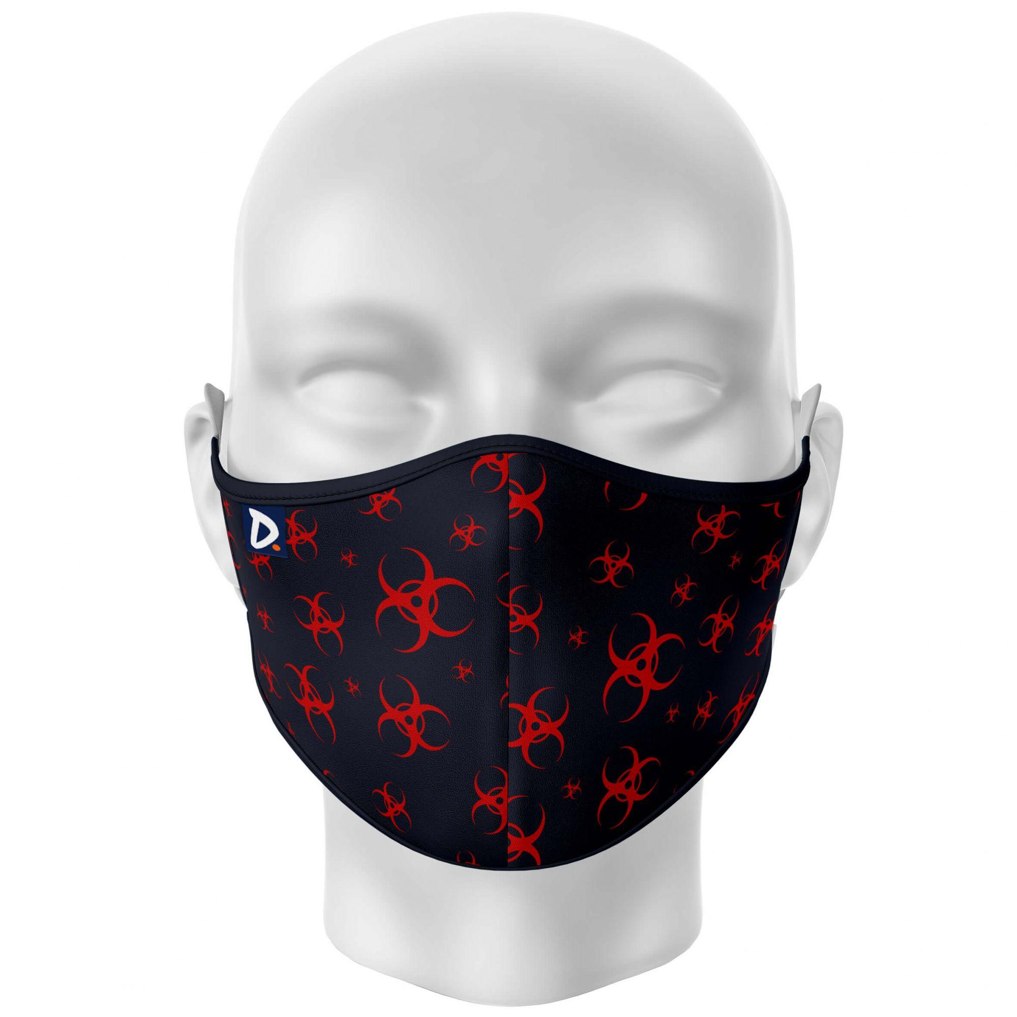 Máscara Total Risco Biológico Preta