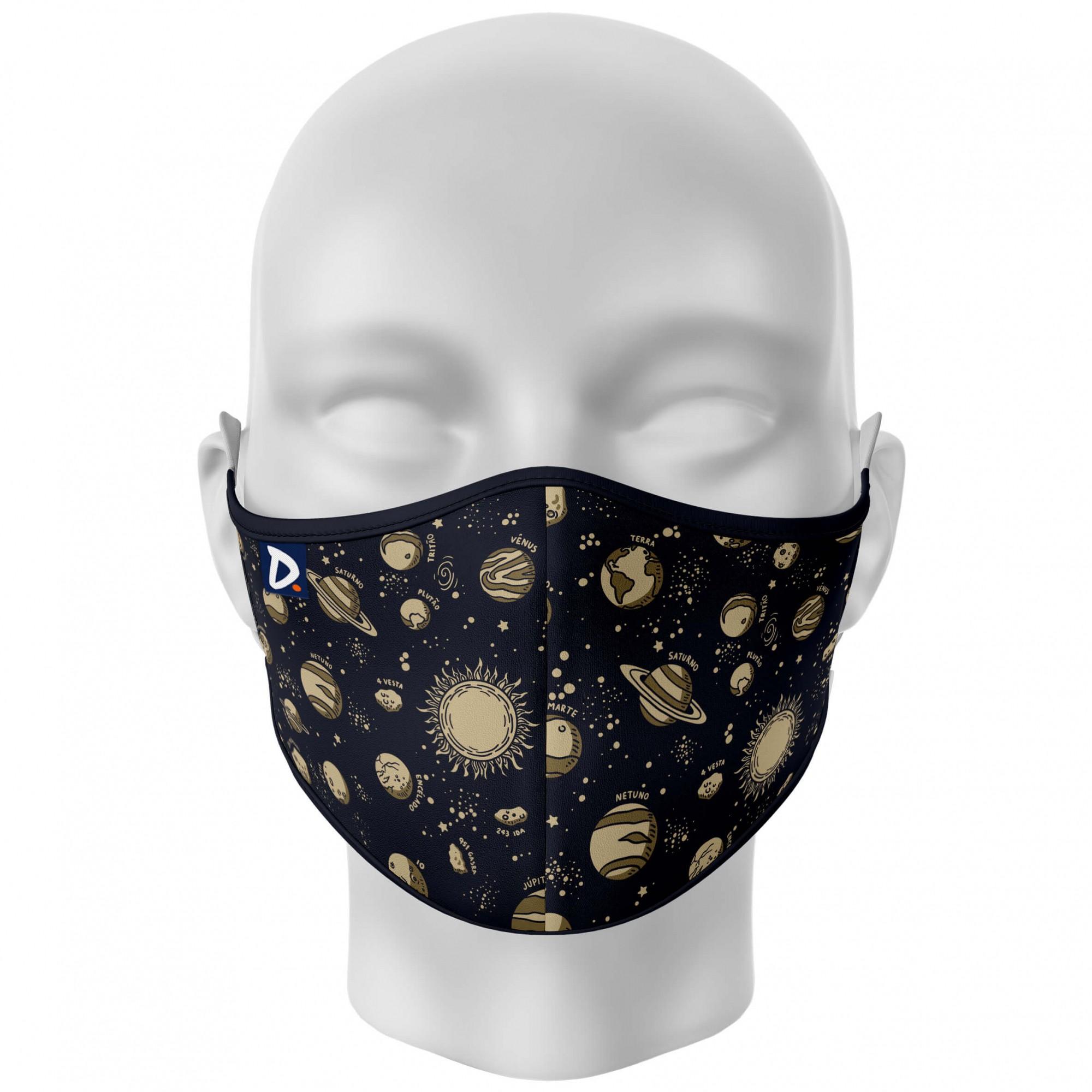 Máscara Sistema Solar Monocromático