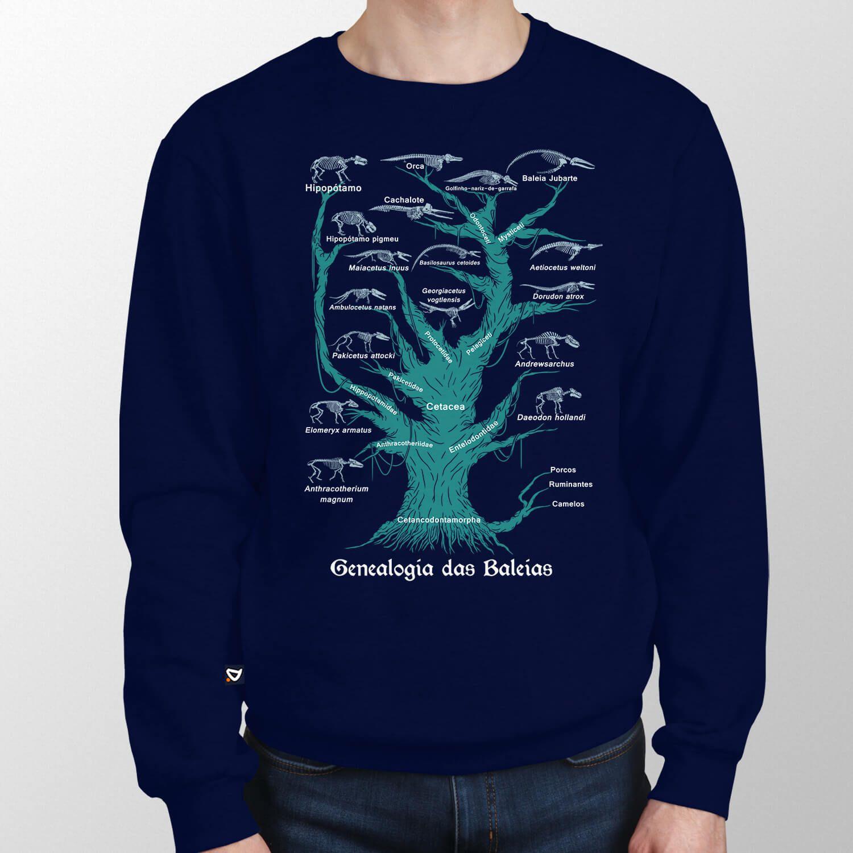 Moletom Genealogia das Baleias