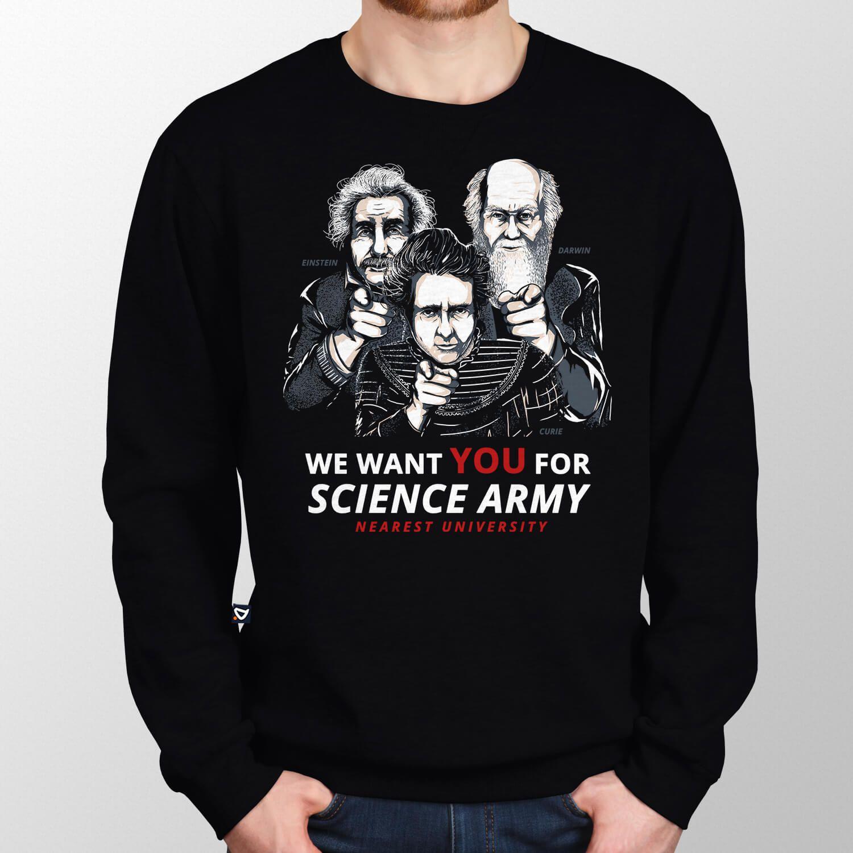 Moletom Science Army - Unissex