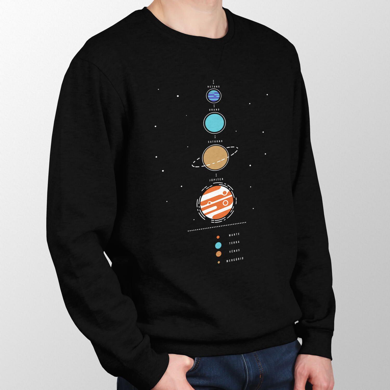 Moletom Sistema Solar - Unissex