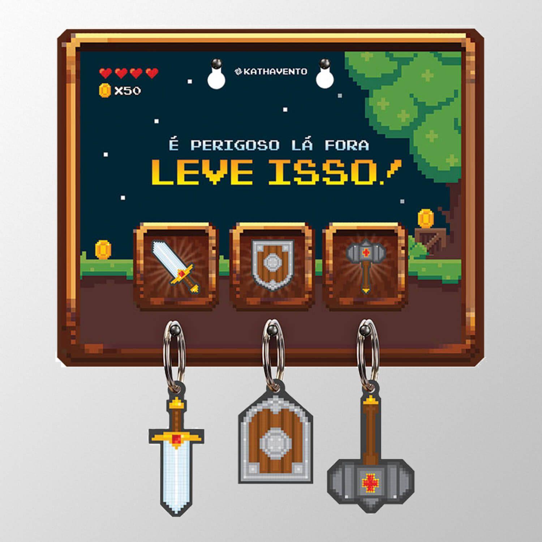 Porta Chave RPG 16 Bits