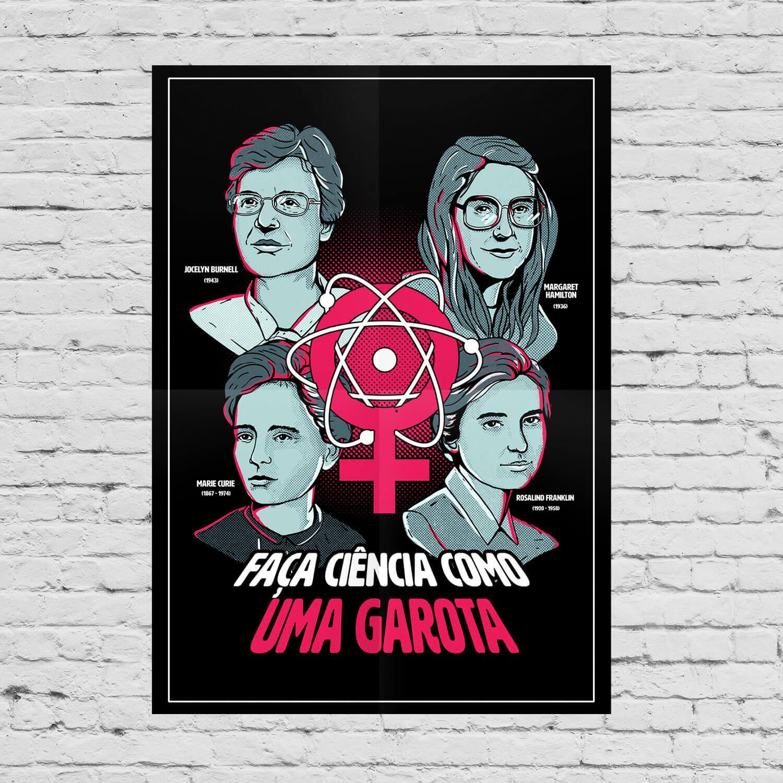 Pôster Ciência Como Uma Garota