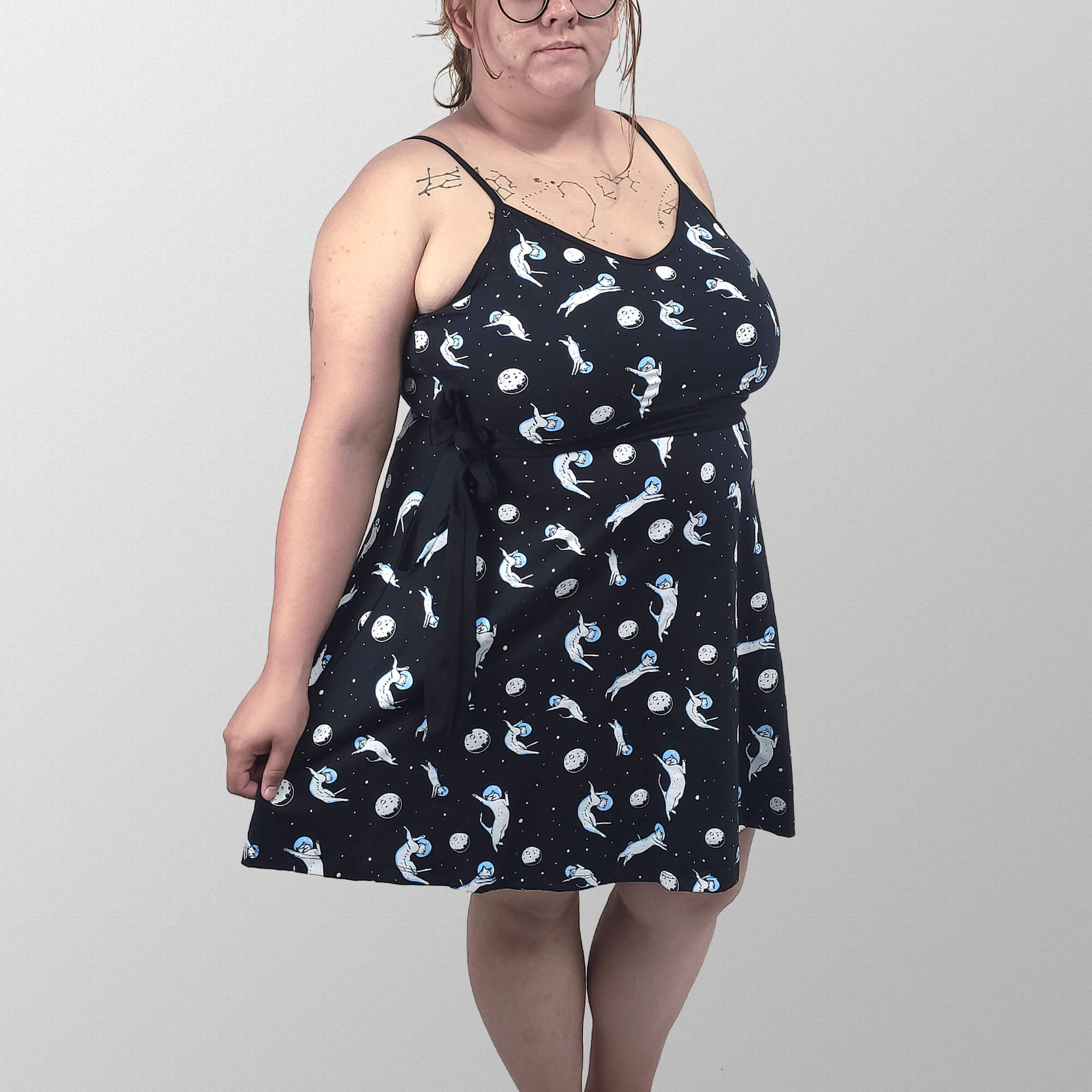 Vestido Alcinha Total Gatonautinha