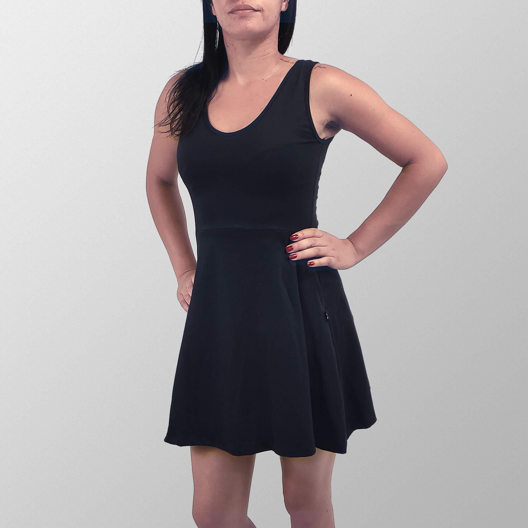 Vestido Regata Liso Preto